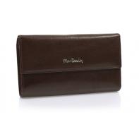 Bardzo duży damski portfel Pierre Cardin brązowy, nowy design