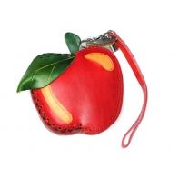 """Etui ART """"czerwone jabłko"""" ze skóry naturalnej"""