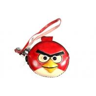 """Etui ART """"czerwony angry birds"""" ze skóry naturalnej"""