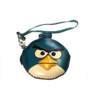 "Etui ART ""niebieski angry birds"" ze skóry naturalnej"
