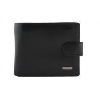 Elegancki, klasyczny, skórzany portfel z klipsem Albatross czarny