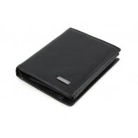 Mały, skórzany portfel Albatross czarny