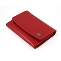 Portfel damski Rovicky w kolorze czerwonym, skórzany