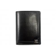 Męski portfel Rovicky ze skóry naturalnej, czarny