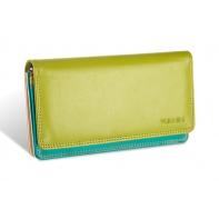 Kolorowy portfel damski Valentini, pomarańczowy, zielony + inne