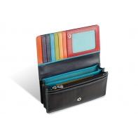 Kolorowy portfel damski Valentini, czarny + inne