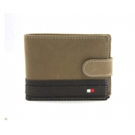 Bardzo mały poręczny portfel męski Always Wild ze skóry nubukowej - brąz