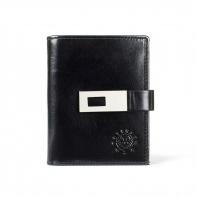 Mały pojemny portfel damski Peterson, czarny z zapinką