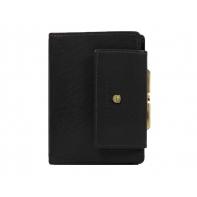 Skórzany portfel damski Peterson z zapięciem, czarny