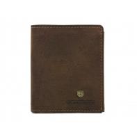 Pionowy bardzo mały portfel męski marki Peterson, brązowy