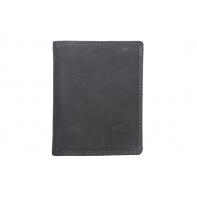 Super wyposażony portfel męski Always Wild ze skóry nubukowej - czarny