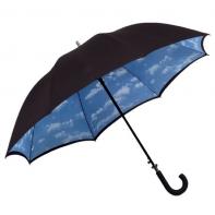 Duży parasol typu chmurka z podwójną kolorystyką