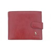 Portfel Puccini P1703 w kolorze czerwonym, skórzany