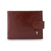 Męski poziomy portfel Puccini P20439 w kolorze brązowym z zapięciem