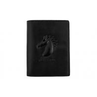 Czarny pionowy portfel Pierre Cardin 501-326 ze skóry naturalnej