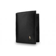 Męski pionowy portfel Puccini P7825 w kolorze czarnym