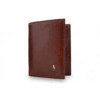 Męski pionowy portfel Puccini P7825 w kolorze brązowym