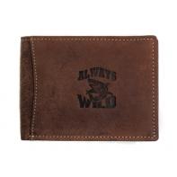 Poziomy portfel męski Always Wild ze skóry nubukowej - koniakowy