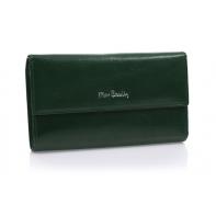 Bardzo duży damski portfel Pierre Cardin zielony, nowy design