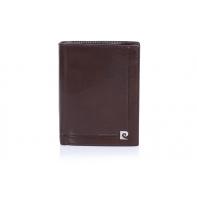 Męski portfel Pierre Cardin, 12 kart + dowód rejestracyjny, brązowy