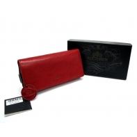 Długi damski portfel Wittchen 21-1-075, kolekcja Italy, czerwony