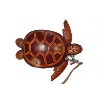 """Etui ART """"brązowy żółw"""" ze skóry naturalnej"""