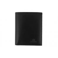 Męski, doskonale wyposażony portfel Orsatti M01A w kolorze czarnym, pionowy