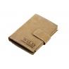 Pionowy portfel męski Always Wild ze skóry nubukowej z zapięciem - jasny brąz