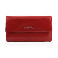 Bardzo duży damski portfel Pierre Cardin czerwony, lakierowany