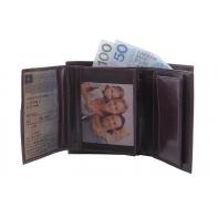Męski, doskonale wyposażony portfel Orsatti M01B w kolorze brązowym, pionowy