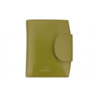 Stylowy portfel damski Orsatti D-03H w kolorze jasno zielonym, skóra