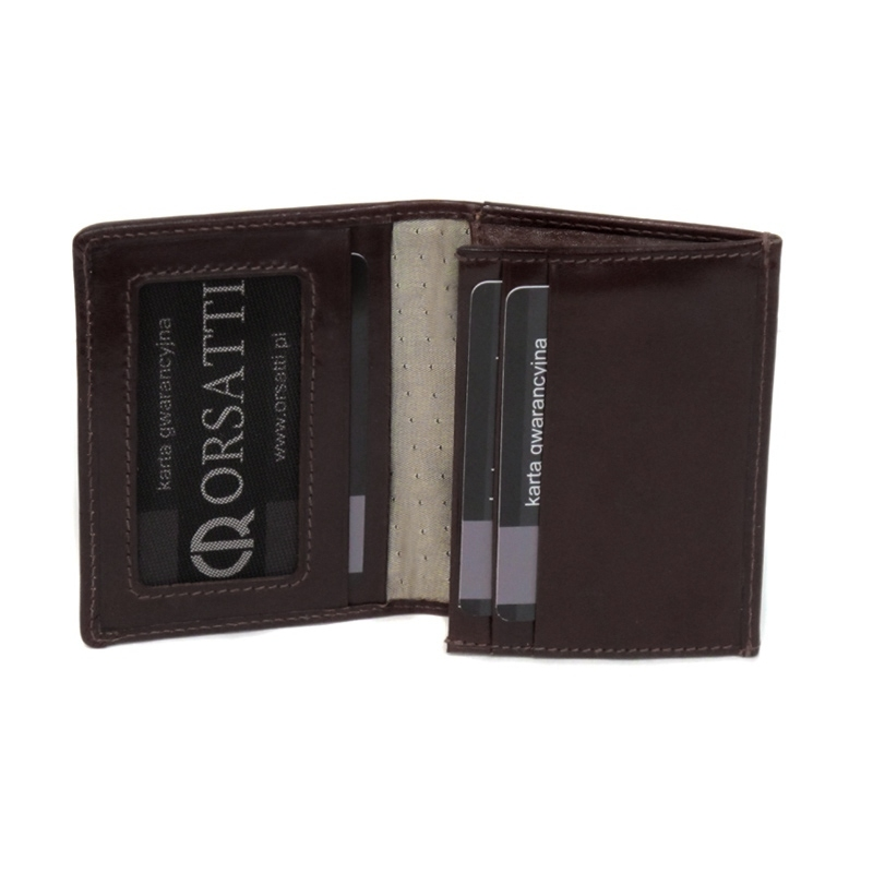 a65ddb13d4a4f Etui na wizytówki Orsatti EW01 w kolorze ciemny brąz