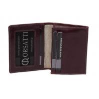 Etui na wizytówki Orsatti EW01 w kolorze bordowym