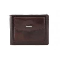 Mały, skórzany portfel - banknotówka Albatross brązowy