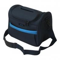Kuferek podróżny Travelite granatowy z niebieskimi wstawkami