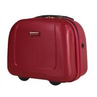 Kuferek, kosmetyczka podróżna Puccini ABS, czerwony