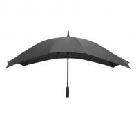 BARDZO duża podwójna parasolka w kolorze szarym