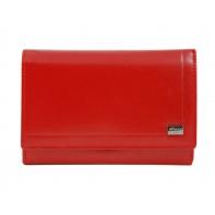 Damski portfel Rovicky w kolorze czerwonym, skórzany