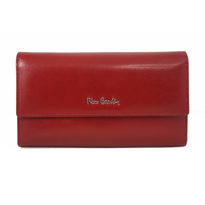 2fe28a605aba7 Pojemny damski portfel Pierre Cardin czerwony