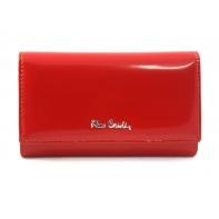 Klasyczny damski portfel Pierre Cardin czerwony, lakierowany