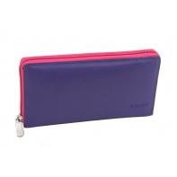 Kolorowy portfel damski saszetka Valentini, fiolet, róż, fuksja + inne