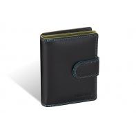 Kolorowy niewielki portfel damski Valentini, czarny + inne