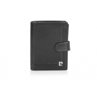 Męski portfel Pierre Cardin zapinany, 12 kart + dowód rejestracyjny, czarny
