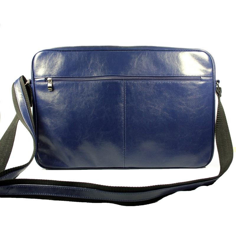 7dc97a949803b Skórzana torba na ramię z wyjmowaną kieszenią na laptopa G-502 czarna
