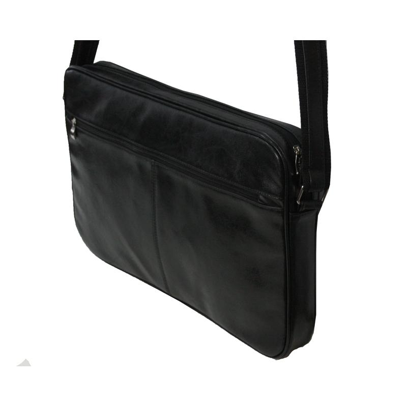 dd452621fcb5e Skórzana torba na ramię z wyjmowaną kieszenią na laptopa G-502 czarna