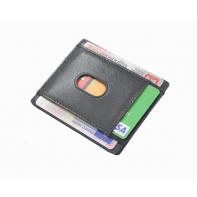 Najmniejszy skórzany portfel Orsatti M11A czarny