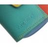 Maleńki kolorowy portfel damski Valentini, koralowy, miętowy, niebieski + inne