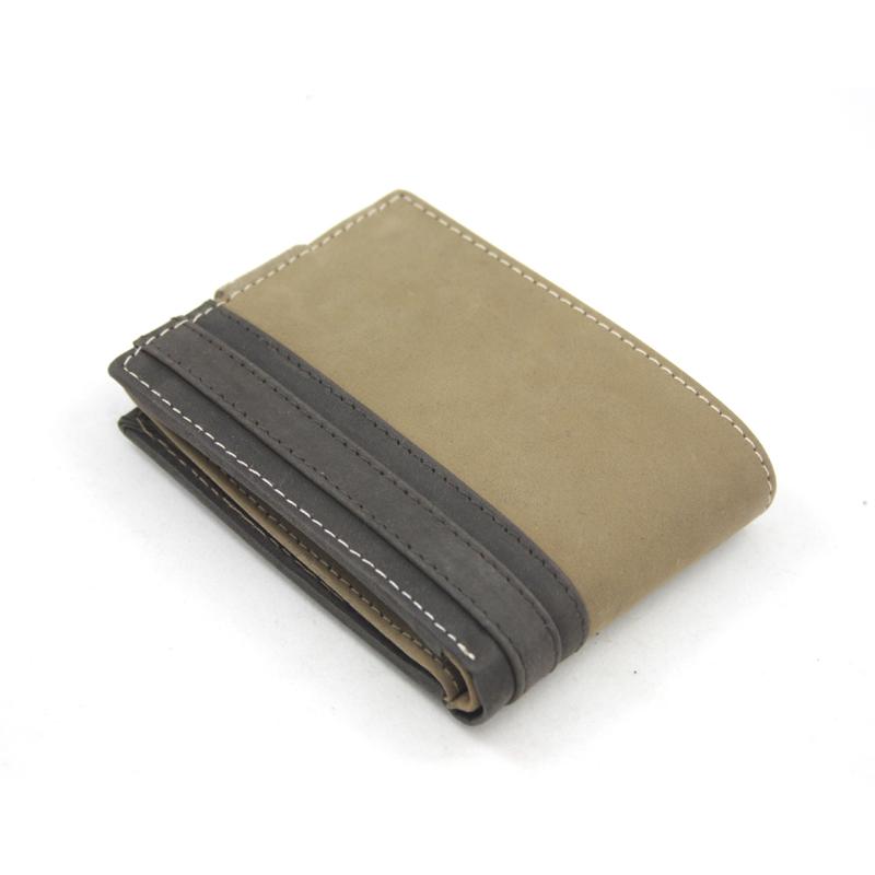 172aedf3175a4 Bardzo mały poręczny portfel męski Always Wild ze skóry nubukowej - brąz