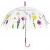 Wiosenna głęboka przezroczysta parasolka, róż