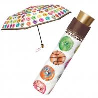 Mała składana na 3 parasolka w pączki, donuts